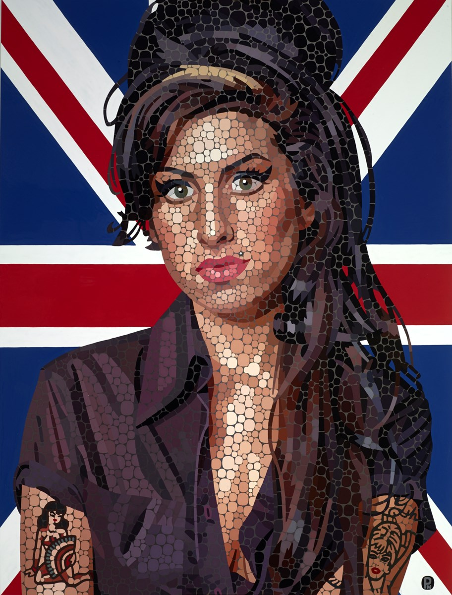 Best of British (Amy Winehouse) by paul normansell -  sized 24x32 inches. Available from Whitewall Galleries
